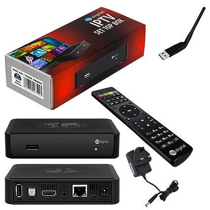 MAG 254 Original HB-DIGITAL IPTV SET TOP BOX Multimedia Player Internet TV  IP Receiver with UK AC power plug + HB Digital WLAN Adapter WiFi Stick