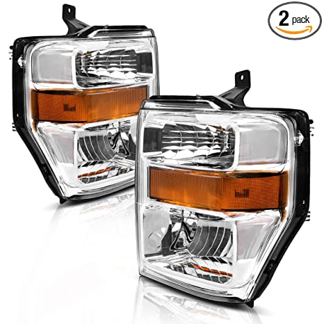 For 08-10 Ford F250 F350 F450 Super duty Headlight embly,OE Projector on