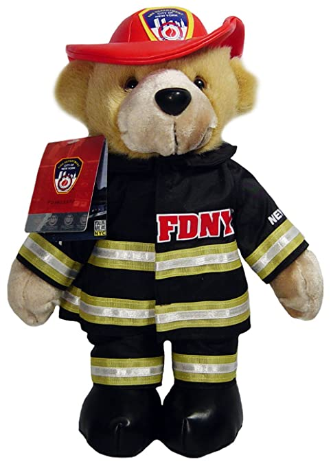 0c095ea2585 Amazon.com  FDNY Teddy Bear Stuffed Animal Officially Licensed by ...