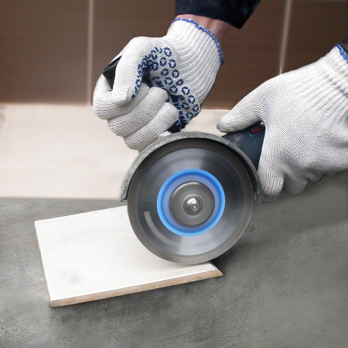 Calidad Profesional Piedra caliza y otros materiales duros S/&R Disco Tronzador Diamante 125 mm para corte de Porcelanico Granito Azulejos Cer/ámica dura M/ármol