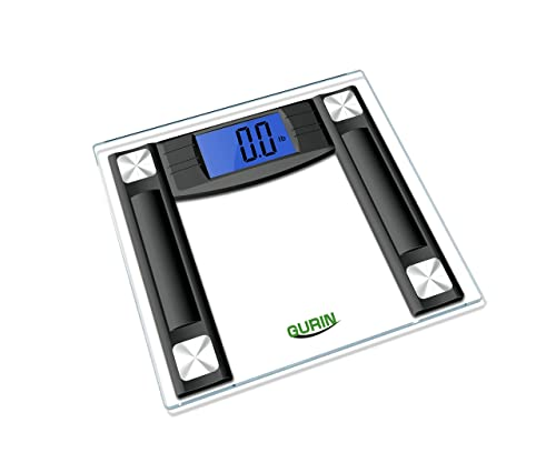 "Gurin High Accuracy Digital Bathroom Scale with 4.3"" Display and Step-On Technology"
