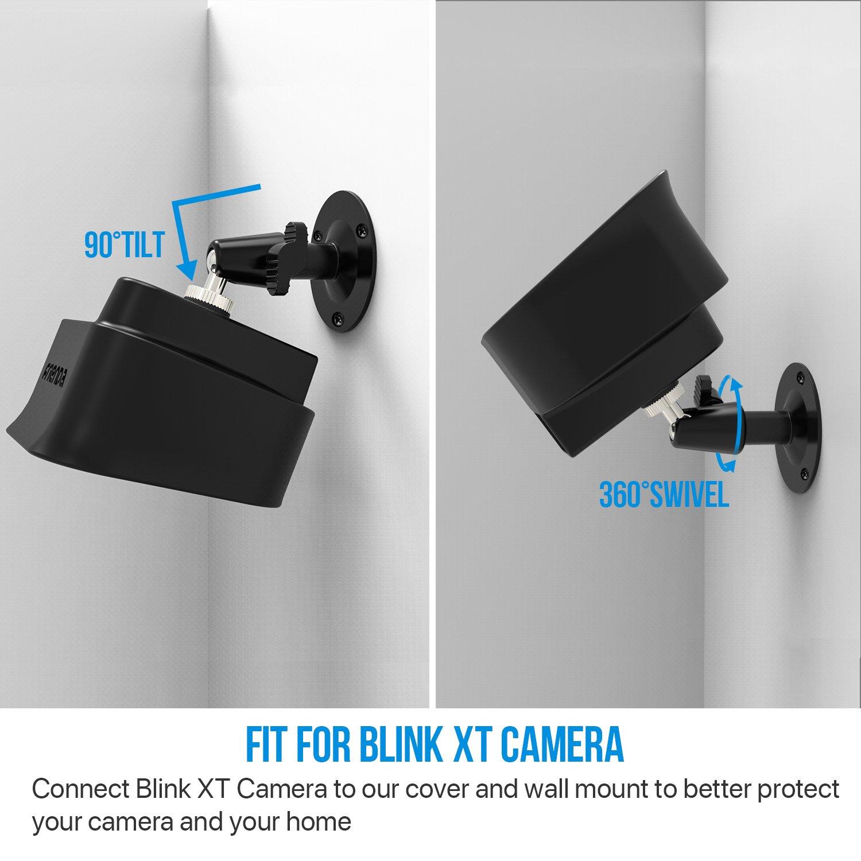 360 Grad Einstellbare Wandhalterung und Silikon Schutzh/ülle f/ür Blink XT Drinnen//Drau/ßen Sicherheit Kamera 2, Schwarz