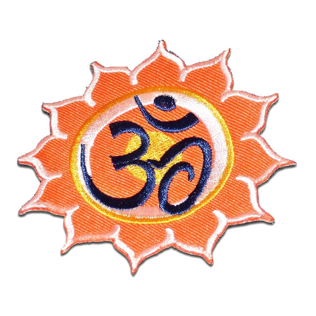 Parches - Om símbolo espiritual Hindu Meditation - naranja ...