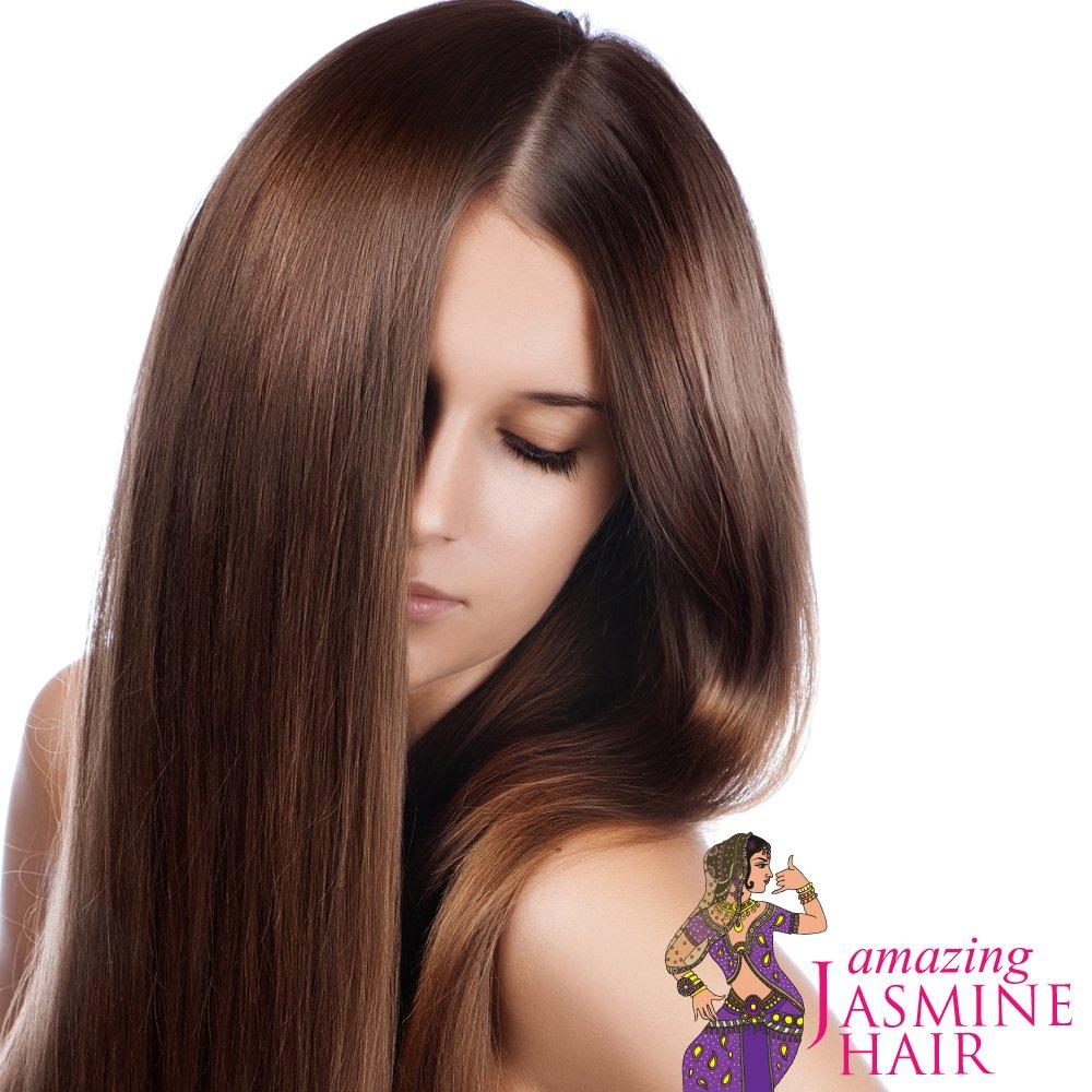 Amazing Jasmine Hair Growth & Restoration Holistic Oil Blend for Hair Elasticity / Treats Weak Thinning Hair / Improves the Scalp Health 10.2 Oz by Amazing Jasmine Hair (Image #4)