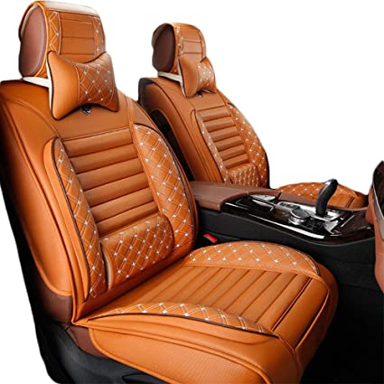 5 Seats PU Leather Car Seat Cover Universal Cushion Full Set