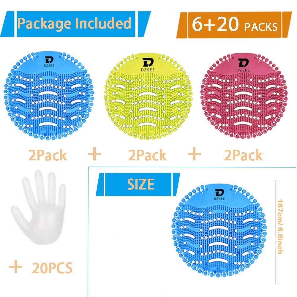 10 Gloves Splash Mats /& Deodorizer Urinal Deodoriser 3Urinal Mat Fits Most Top Urinal Brands /& Waterless Urinal Screen 3PCS