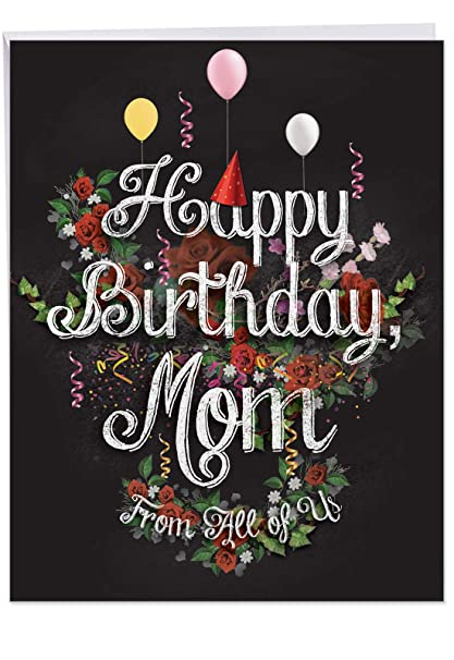 Birthday Mother From Us Big Greeting Card With Envelope 85 X 11 Inch