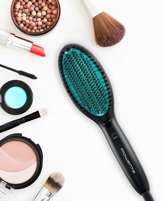 Rowenta Cepillo alisador Power Straight CF5820F0 - Cepillo especial para cabello muy rizado, con generador de iones y temperatura regulable hasta 200º, ...