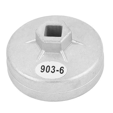 sourcingmap® 13mm encaje cuadrada 12 estría aceite filtro tapón copa llave inglesa herramienta por coche