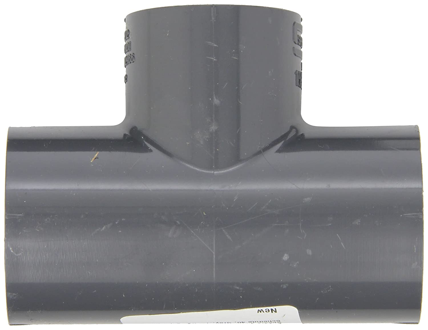 1 x 3//4 Socket Schedule 40 Gray Spears 401-G Series PVC Pipe Fitting Tee