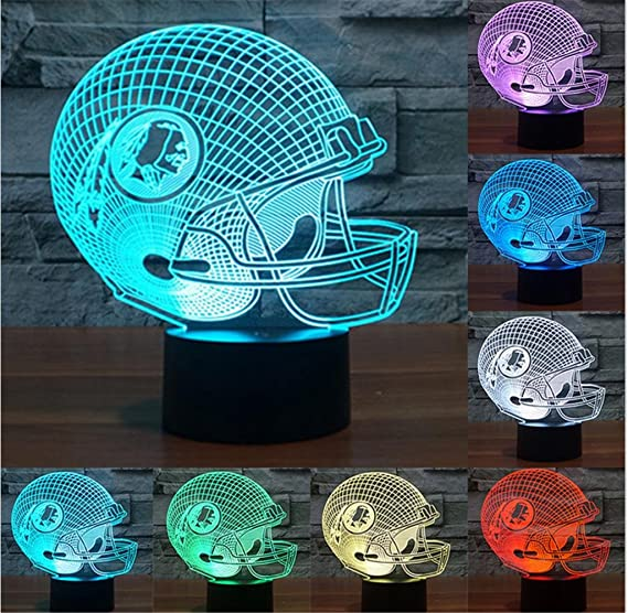 HAPPYMOOD Desk Lamp American Football Team Helmet Lights Christmas Birthday Gift 7 Colors Change USB Touch Sensor Night Light - - Amazon.com