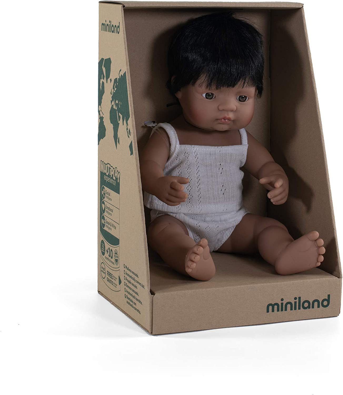 38 cm, 15 Miniland Educational Baby Doll Latinamerican Boy