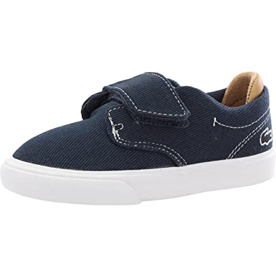Amazon.com | Lacoste Esparre 218 1 Navy/Tan Canvas Infant Trainers | Shoes