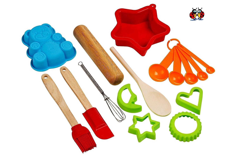 Les coccinelles Soci/ét/é Great British Bake Lot pour enfants filles 18/pi/èces Kit de P/âtisserie enfants cuisson Coffret cadeau avec super Chef Tablier et toque de chef Outfit