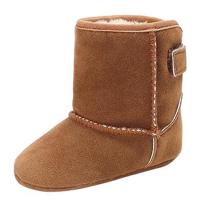 BZLine Style Souple Coton Chaussures de Premier Pas Automne Hiver, Couleur Unie pour Bébés 0-18 Mois