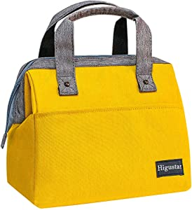 HIGUSTAR Insulated Lunch Bags for Women, Large Capacity Adult Lunch Box for Work/Picnic/Beach/Travel, Lunch Tote Food Bag Cooler Bag with Pocket