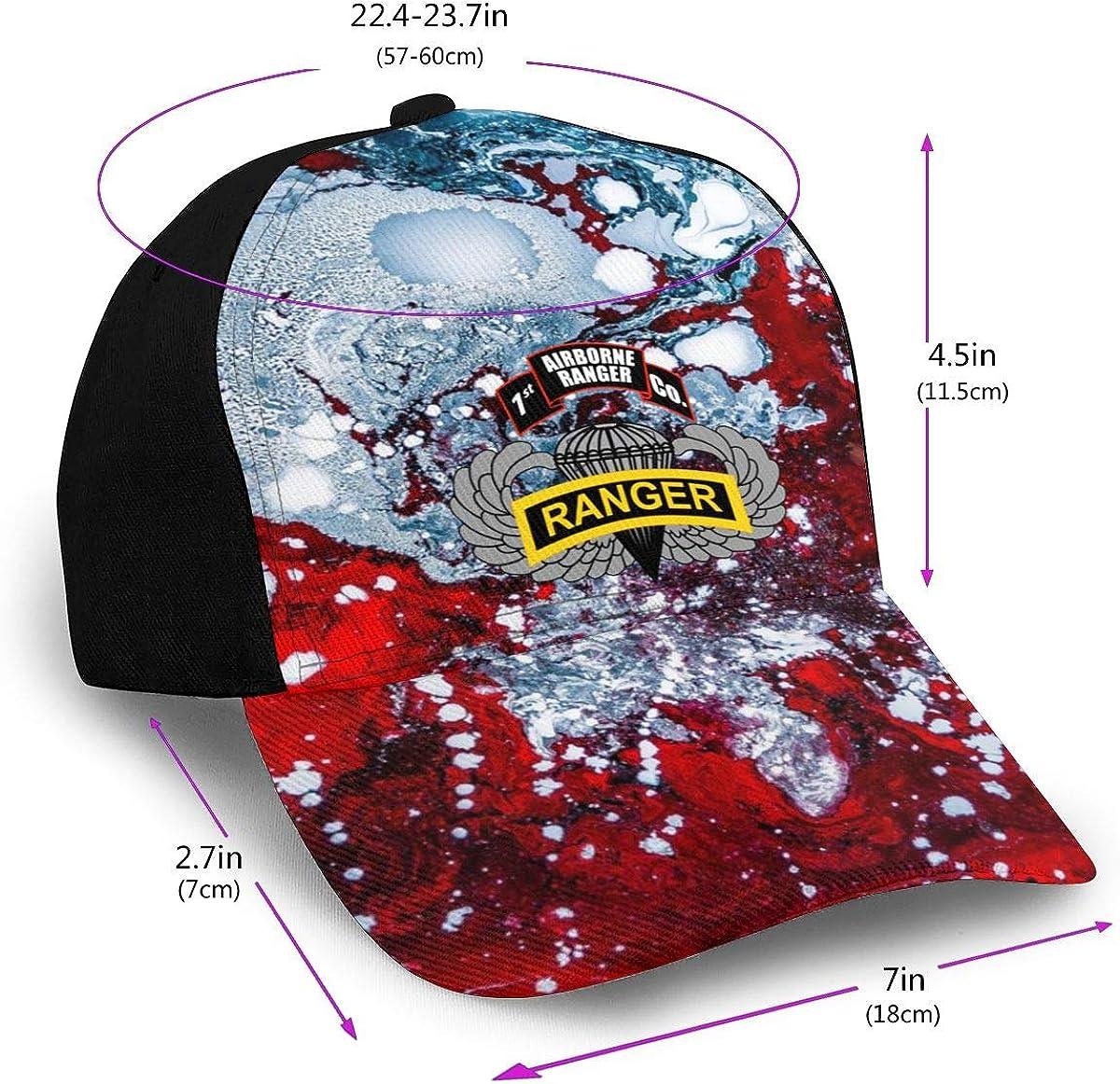 1st Ranger Infantry Co Airborne Badge Classic Adult Caps Printing Bend Along Baseball Hats Snapback Unisex Cap Adjustable