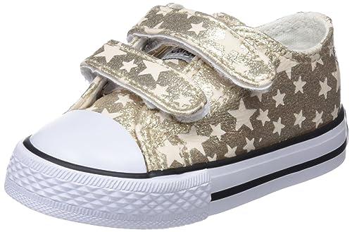Conguitos Sneaker Metalizado Velcro, Zapatillas sin Cordones para Niñas: Amazon.es: Zapatos y complementos