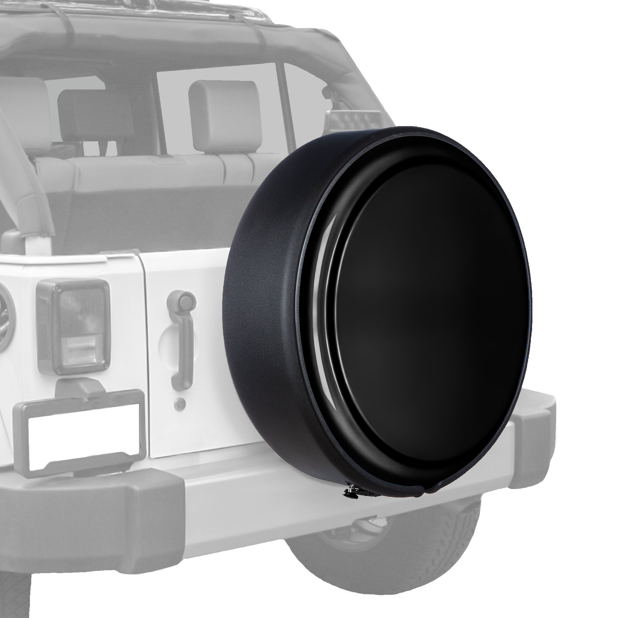 Jeep Wrangler JK - (Moab/X Edition) - 31.5'' MasterSeries Hard Tire Cover - (Painted Plastic Face & Black Powder Coated Steel Ring) - Black
