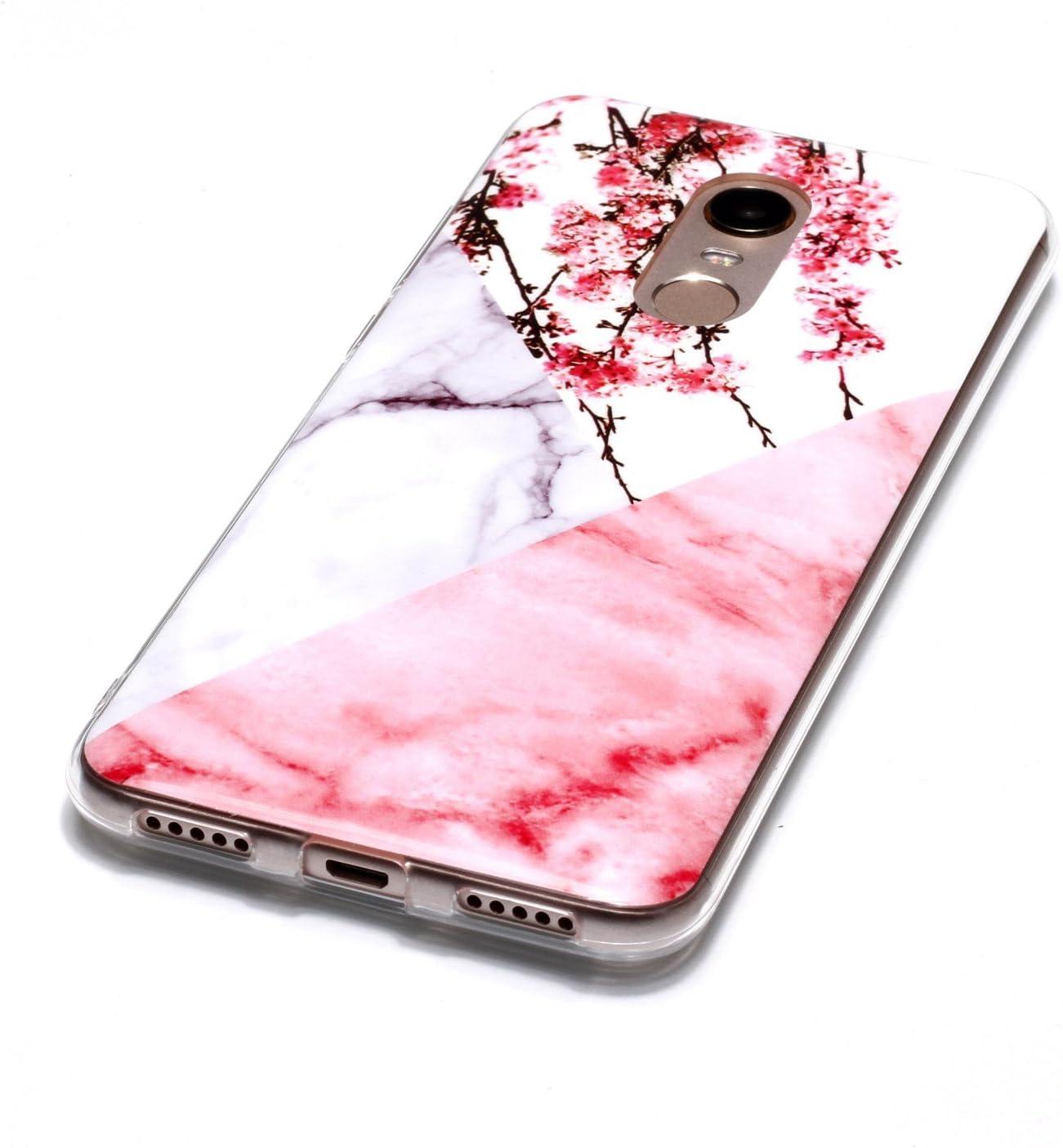 Redmi 5 Plus Redmi 5 Plus Cover M/ármol Rosa Case Funda TPU Gel Cubierta Suave Silicona Carcasa Case Cover Tapa Caso para Xiaomi Redmi Note 5 5.99 ZXLZKQ Funda para Xiaomi Redmi Note 5