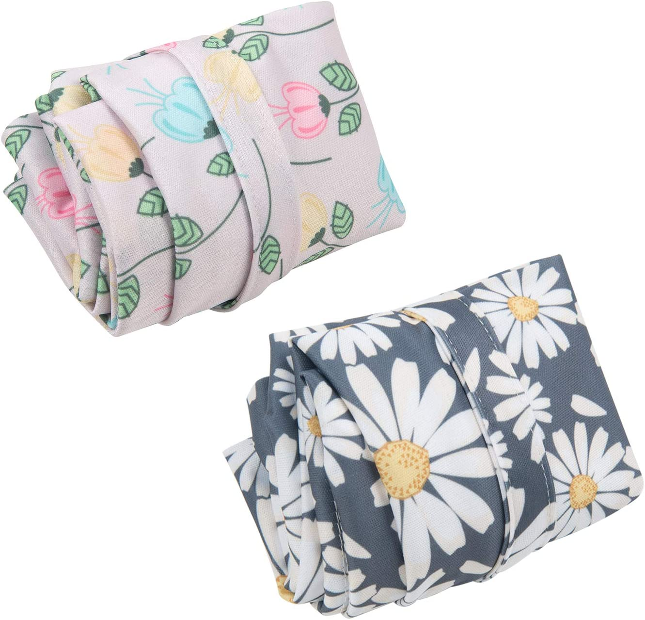 ALVABABY Cloth Diaper Wet Dry Bags Reusable with Two Zippered Pockets Travel Beach Pool Daycare Soiled Baby Items Yoga Gym Bag For Swimsuits Or Wet Clothes 2 Pack Setting Gift L-YX4648-CA