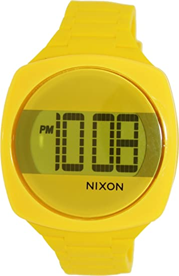 73bb61c46 Buy Nixon Men's Dash A168639-00 Yellow Silicone Quartz Watch with Black  Dial Online at Low Prices in India - Amazon.in