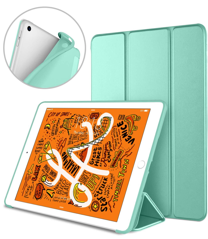 Black DTTO iPad Mini 5th Generation 2019 Case, Gentle Series Smart Cover Trifold Stand Soft Back Cover for iPad Mini 5 2019//iPad Mini 4 2015 Auto Sleep//Wake