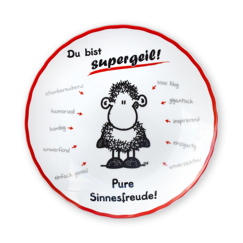 Sheepworld 43498 Teller Du bist Supergeil!