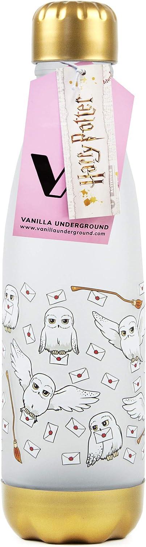 Vanilla Underground Harry Potter Hedwig Botella de Metal para Bebidas dise/ño de b/úho 600 ml