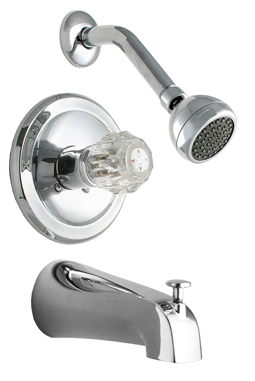 LDR 011 7100 Single Handle Tub and Shower Faucet, Chrome - - Amazon.com