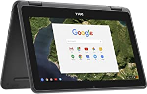 "Dell - 2-in-1 11.6"" Touch-Screen Chromebook - Intel Celeron - 4GB Memory - 32GB eMMC Flash Memory - Gray"