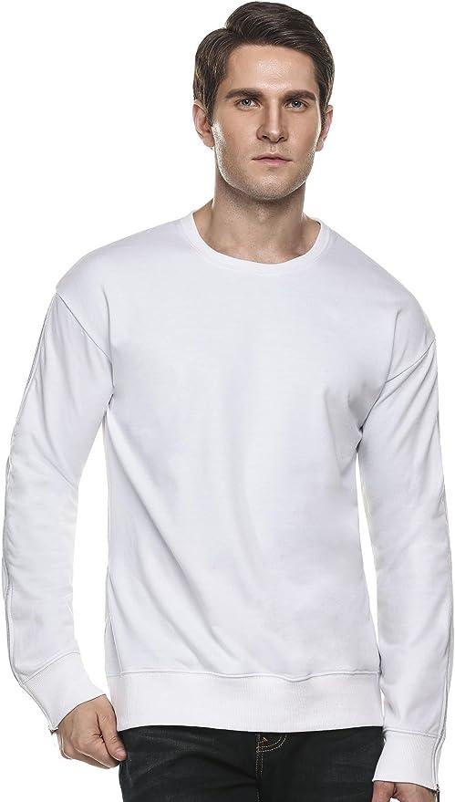 COOFANDY Men's Hipster Hip Hop Long Sleeve Sweatshirt T-Shirt