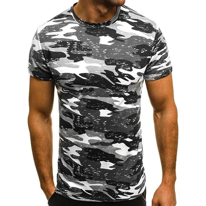 Camiseta De Camuflaje para Hombre Camisetas Casual Hombre AIMEE7 Camisetas De Hombres Sueltos Camisetas Element Hombre