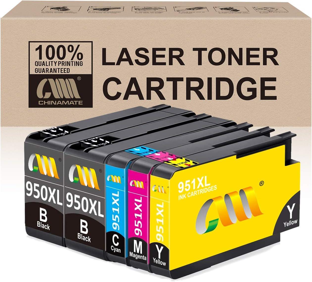 Reemplazo de cartucho de tinta compatible con CMCMCM para HP 950 XL 951 XL 950XL 951XL Trabajo para HP Officejet Pro 8600 8610 8620 8630 8640 8100 8625 8615 8660 251dw 276dw Impresora: Amazon.es: Electrónica