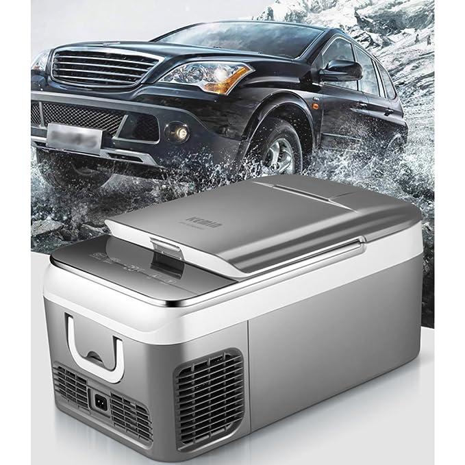 PIGE Refrigerador refrigerado refrigerador del compresor 18L 12v-24v Mini refrigeradora doméstica pequeña Nevera congelador (Tamaño : 18L): Amazon.es