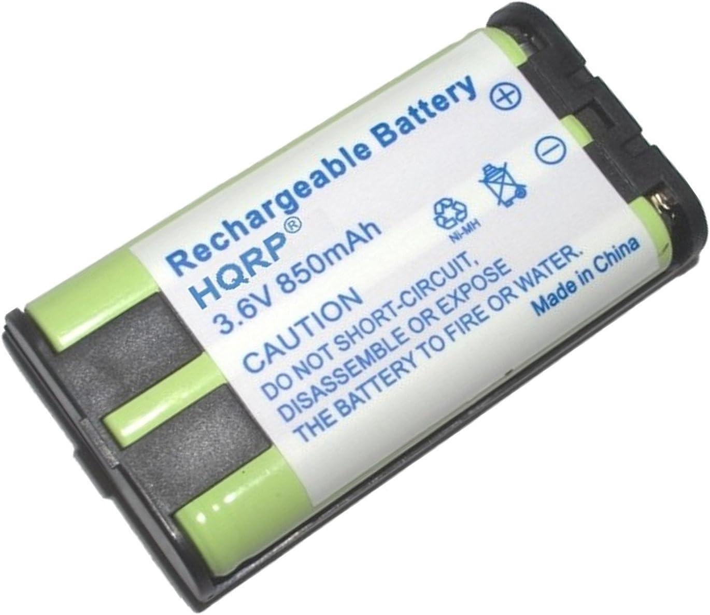 HQRP Batería para Panasonic HHR-P104 / HHR-P104A / Type 29 / KX-FG6550 / KX-FPG378 / KX-FPG379 / KX-FPG391 / KX-TG5055 / KX-TG5200 Teléfono inalámbrico + HQRP Posavasos