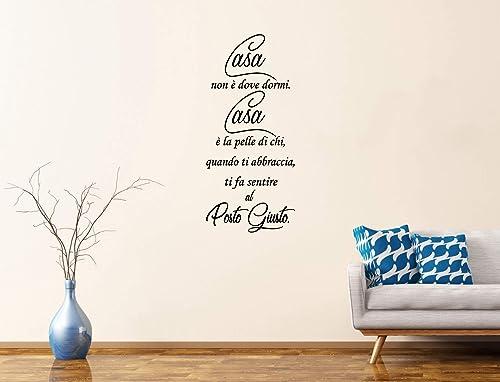 Adesivi Murali Moderni Frasi Casa E Amore Scritte Adesive Con