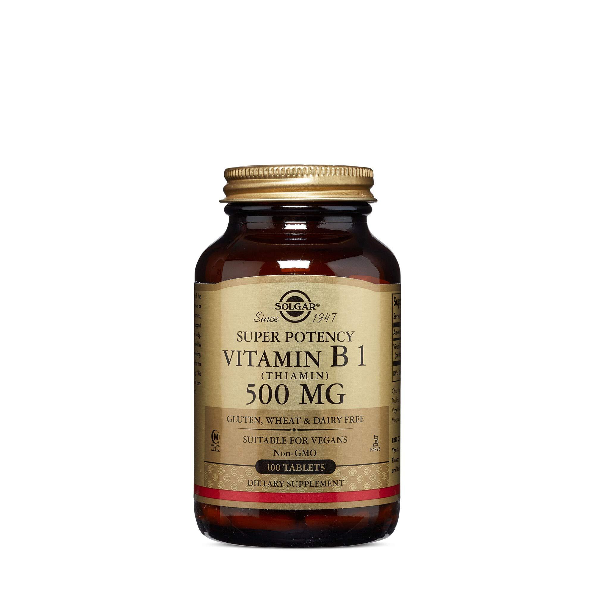Solgar Super Potency Vitamin B1 Thiamin 500 MG by Solgar