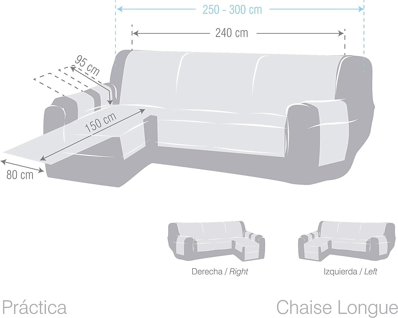 Eysa Constanza Chaise Longue 240 cm Gauche, Vue Frontale, Couleur 01 Lin, Coton, 37x9x29 cm
