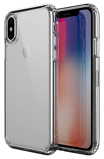 free shipping 46fbc d6db4 PATCHWORKS iPhone X Clear Case, [Pure Shield] Smudge-Free Back PC Soft TPU  Grip Bumper with Air Pocket Corner Impact Drop Protection Case [Wireless ...