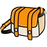JumpFromPaper Orange Cheese Shoulder Bag, Bag for Women, Bag for Men, Cartoon, Unique Bag