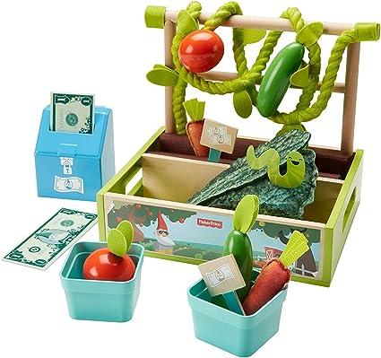New Pretend Play Vegetable Garden Kit New Includes Garden Box Felt Vegetables
