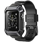 SUPCASE Apple Watch Series 3保護ケース バンド 衝撃吸収 アップルウォッチ シリーズ 3 対応 カバー(42mm, 黒)