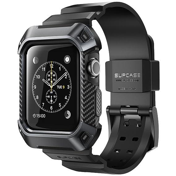 SUPCASE Apple Watch 3 Armband Unicorn Beetle Pro Schutzhulle Robuster Schutzkappe Kratzfest Hulle Case Fur Serie 2017 42mm Kompatibel Mit