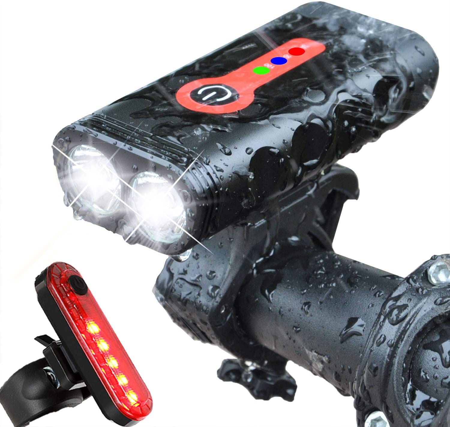 Waterproof Front Bike Light 2*T6 LED Bicycle Lamp 4 Modes MTB Road Cycling