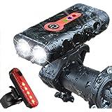 BurningSun Bike Light Set 5 Mode 1000 Lumens...