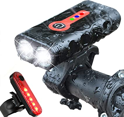 Portable Mountain Bike Lighting Portable Headlight Waterproof Flashlight Bracket
