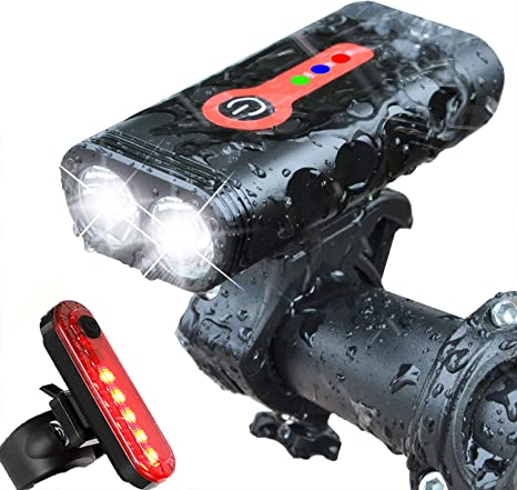 Waterproof USB-Recharge LED Bicycle Bike Front Light Headlight 1200 Lumen T6 US