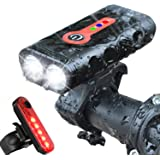 BurningSun Bike Light Set 5 Mode 1000 Lumens Super Bright 360 Degree Rotatable IP65 Waterproof USB Rechargeable Bicycle Headl