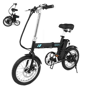 AIMADO Mini Bicicletas Electricas de Montaña Plegable 250W 15MPH Pantalla LED Ruedas de 16 Pulgadas,